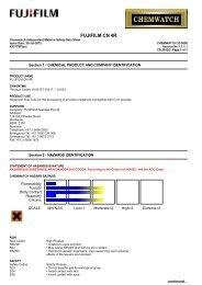 Chemwatch Australian MSDS 32-0800 - FUJIFILM Australia