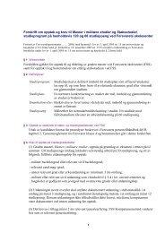20060626 Forskrift om opptak og krav til Master i militære studier og ...