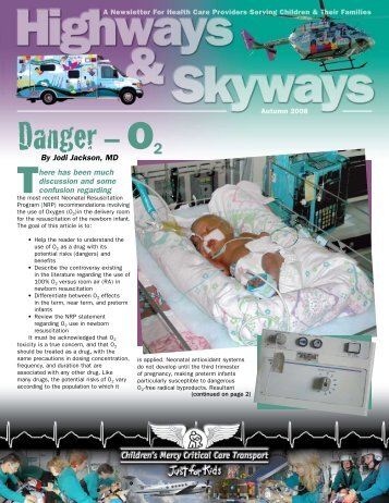 Danger– O2 - Children's Mercy Hospitals and Clinics