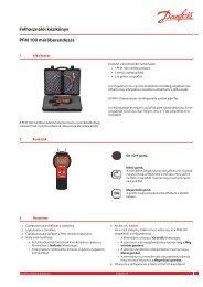 Felhasználói kézikönyv PFM 100 mérőberendezés