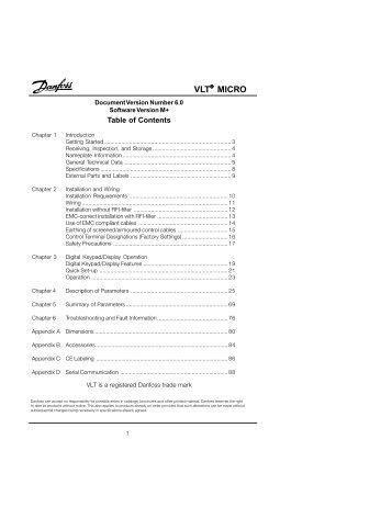 danfoss soft starter mcd 3000 manual