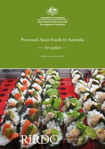 Processed Asian Foods in Australia – An update