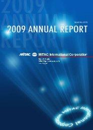 Letter To Shareholders - Mitac