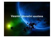 Vesmír, sluneční soustava - prezentace - eAMOS