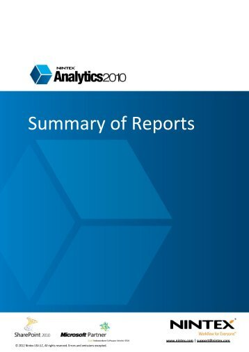 Summary of Reports - visit