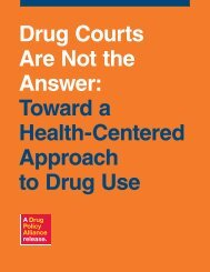 Drug Courts Are Not the Answer - Canadian Harm Reduction Network