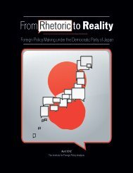 From Rhetoric to Reality: Japanese Foreign-Policy Making under the ...