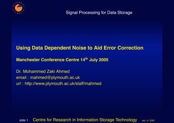Using Data Dependent Noise to Aid Error Correction
