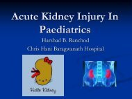 Acute Kidney Injury in In Paediatrics