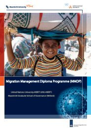 Migration Management Diploma Programme (MMDP)