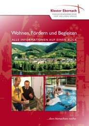 Leben in Kloster Ebernach Über uns