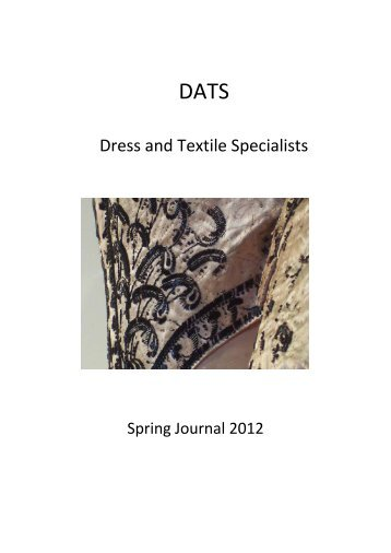 Spring 2012 - Dress and Textile Specialists