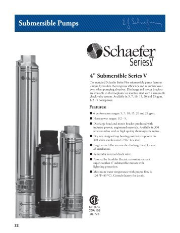 Submersible Pumps - Franklin Electric