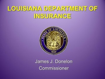 Form Filing - Advanced Session - Louisiana Department of Insurance