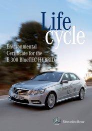 Environmental Certificate for the E 300 Bluetec HYBRID - Daimler