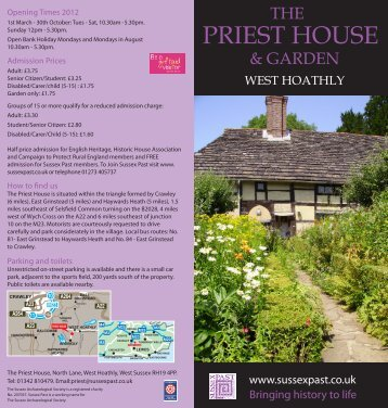 PRIEST HOUSE - The Sussex Archaeological Society