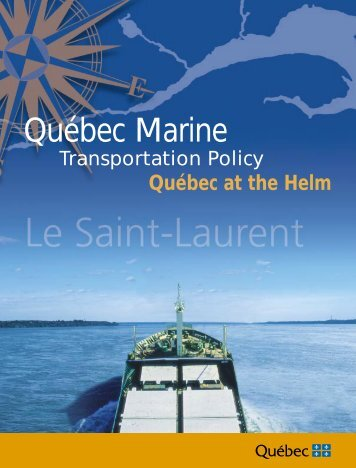 Québec Marine Transportation Policy - Transport - Gouvernement ...