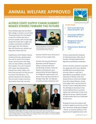 Summer 2009 Animal Welfare Approved Newsletter