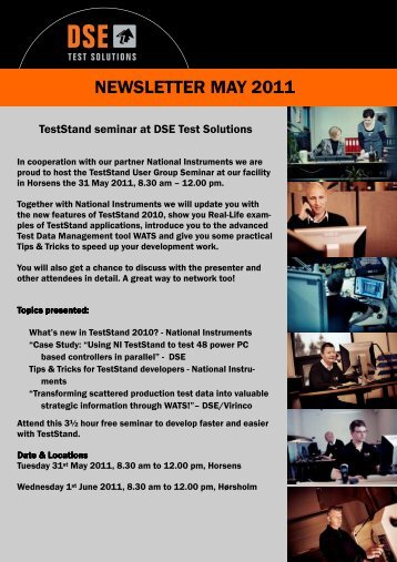 Newsletter May 2011 - DSE Test Solutions