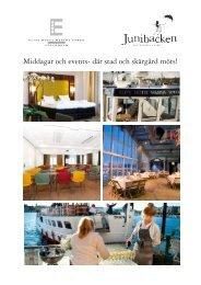 Middagar och events- där stad och skärgård möts! - Elite Hotels