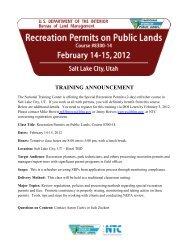 Recreation Permits Training Feb 14-15