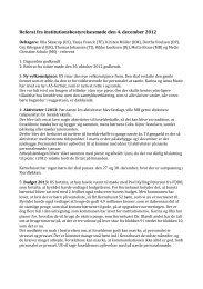 Referat fra institutionsbestyrelsesmøde den 4. december 2012