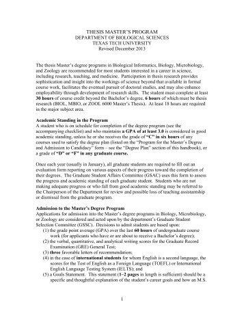Graduate thesis syllabus