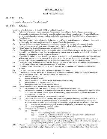 Veterinary Practice Act.