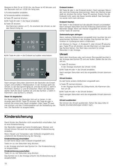 Einbaubackofen HBA23B2.0 - Moebelplus GmbH