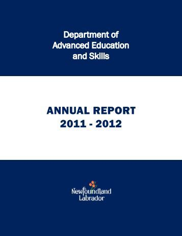 annual report 2011 - 2012 - Department of Advanced Education and ...