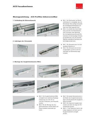 Montageanleitung ACO Profiline - ACO Hochbau