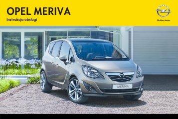 Opel Meriva 2012.5 – Instrukcja obsługi – Opel Polska