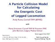 A Particle Collision Model for Calculating the Energetic ... - Andy Ruina