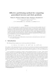 Effective partitioning method for computing generalized inverses ...
