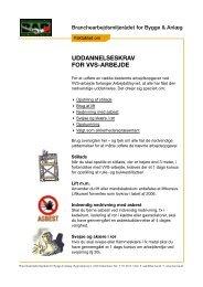 Faktablad om uddannelseskrav for vvs-arbejde - BAR Bygge & Anlæg