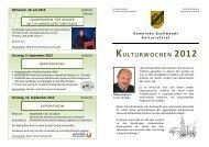 KULTURWOCHEN 2012 - Traunsee - Salzkammergut