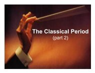The Classical Period - band4me