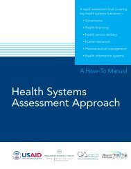 Health Systems Assessment Approach: A How-To Manual - PHRplus