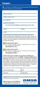 Zusatzversicherung abschliessen - DMSB - Seite 2