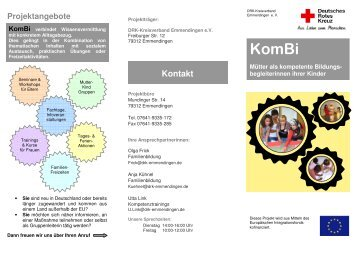 Kontakt Kombi verbindet Wissensvermittlung - DRK KV Emmendingen