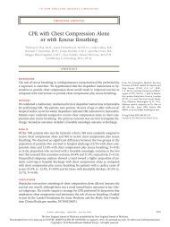 CPR with Chest Compression Alone or with Rescue ... - Urgentologue