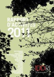 Rapport d'activités 2011 - Iddri