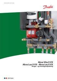 Akva Vita II VX Akva Lux II VX - Danfoss Redan A/S