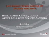 Lyme disease in Canada: modelling, GIS and public health action