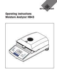 Operating Instructions: METTLER TOLEDO Karl Fischer