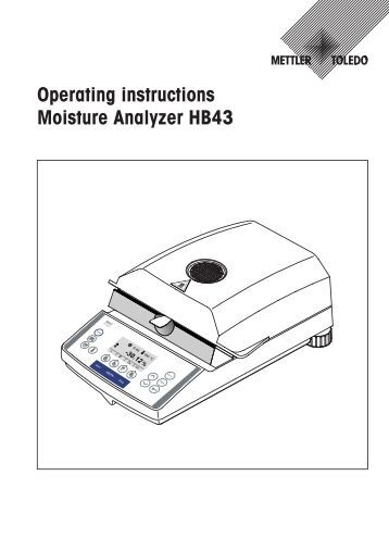 Reference Manual MT-SICS for Halogen Moisture