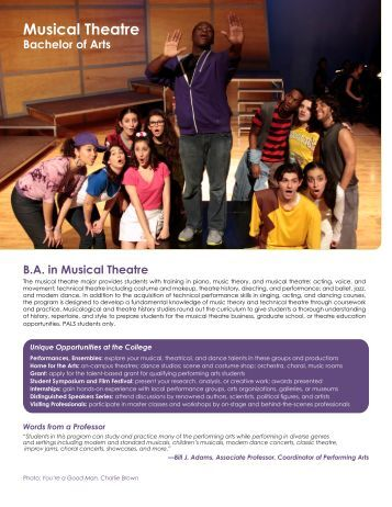 Musical Theatre - College of Arts and Sciences - Nova Southeastern ...
