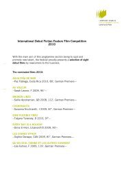 International Debut Fiction Feature Film Competition 2010