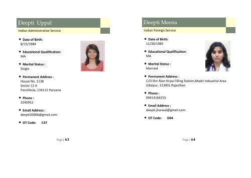 Deepti Uppal Indian Admin