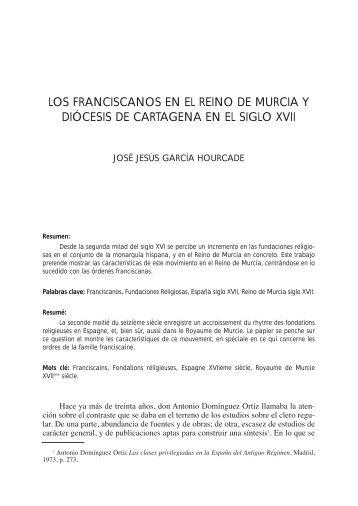 LOS FRANCISCANOS EN EL REINO DE MURCIA Y ... - Dialnet